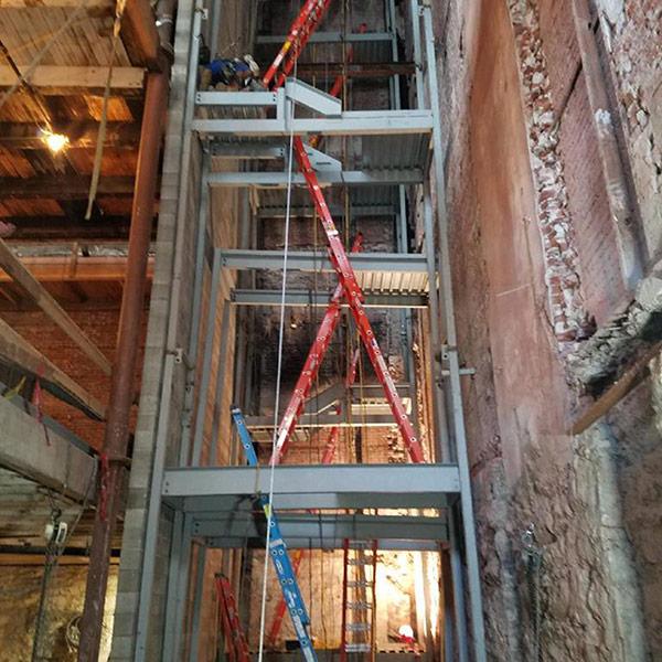 Oregon Pacific Building elevator shaft